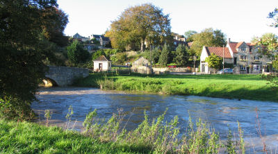 The Inn by the bridge over the river Frome Somerset